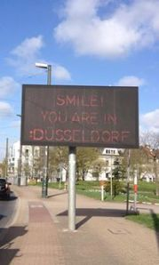 smile, you are in dusseldorf